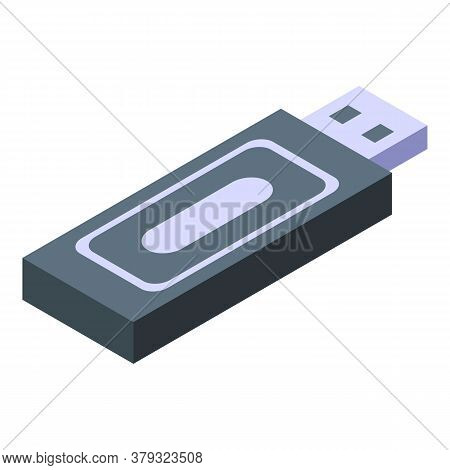 Personal Information Usb Flash Icon. Isometric Of Personal Information Usb Flash Vector Icon For Web