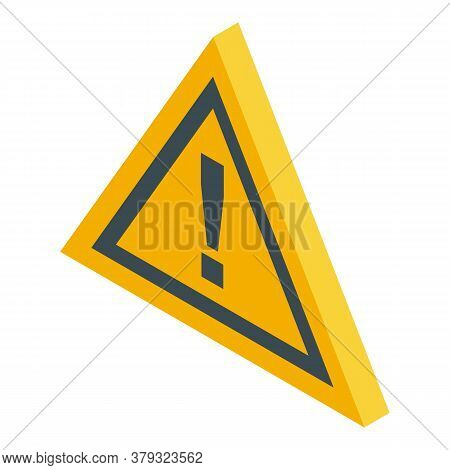 Attention Danger Authentication Icon. Isometric Of Attention Danger Authentication Vector Icon For W