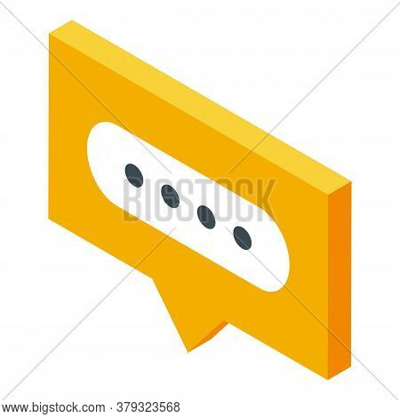 Chat Authentication Icon. Isometric Of Chat Authentication Vector Icon For Web Design Isolated On Wh
