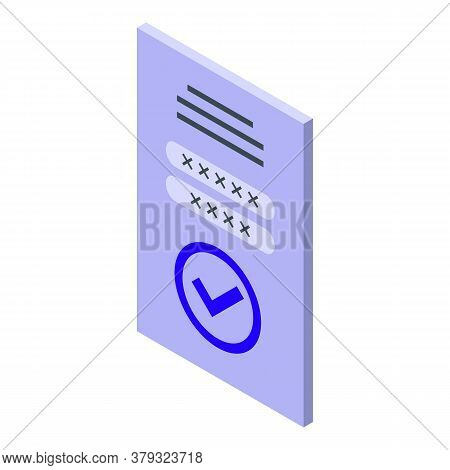 Web Login Authentication Icon. Isometric Of Web Login Authentication Vector Icon For Web Design Isol