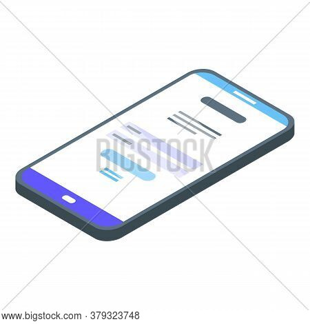 Smartphone Authentication Icon. Isometric Of Smartphone Authentication Vector Icon For Web Design Is