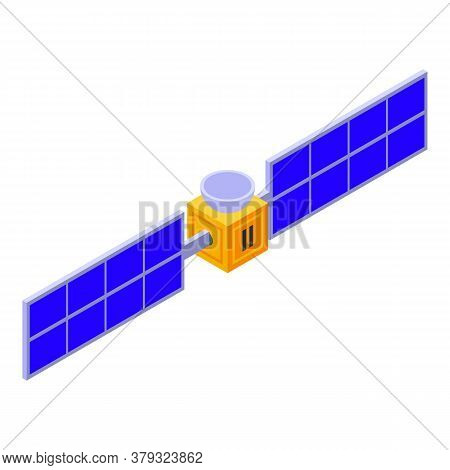 Space Satellite Remote Access Icon. Isometric Of Space Satellite Remote Access Vector Icon For Web D