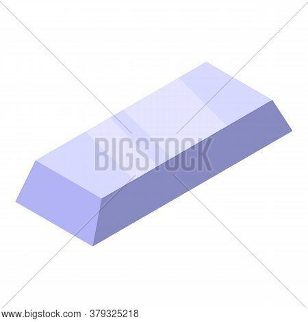 Metallurgy Steel Brick Icon. Isometric Of Metallurgy Steel Brick Vector Icon For Web Design Isolated