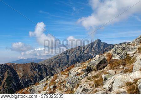 Vysoke Tatry, Slovakia - October 10, 2018: Great Cold Valley In Vysoke Tatry (high Tatras), Slovakia
