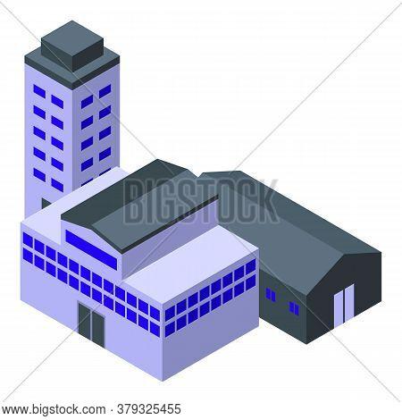 Urban Metallurgy Factory Icon. Isometric Of Urban Metallurgy Factory Vector Icon For Web Design Isol
