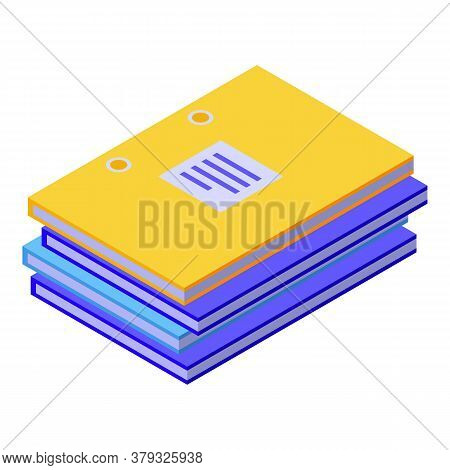 Storage Documents Icon. Isometric Of Storage Documents Vector Icon For Web Design Isolated On White