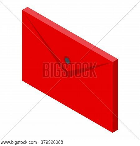Map Storage Document Icon. Isometric Of Map Storage Document Vector Icon For Web Design Isolated On