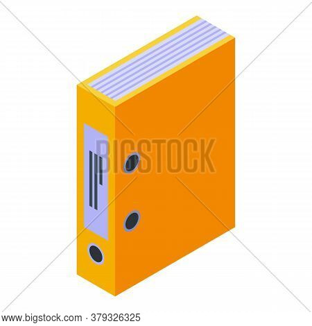 Office Map Storage Document Icon. Isometric Of Office Map Storage Document Vector Icon For Web Desig