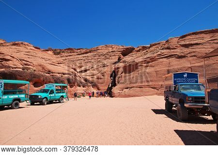 Antelope Canyon / United States - 07 Jul 2017: Antelope Canyon In Arizona, Usa