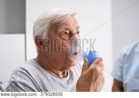 Copd, Medical Fibrosis Or Asthma Sick Patient
