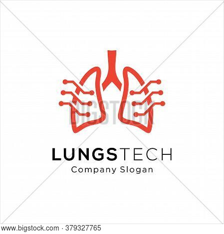 Lungs Logo Icon Design, Human Lungs Logo Designs Template, Lungs Technology Logo Design Vector