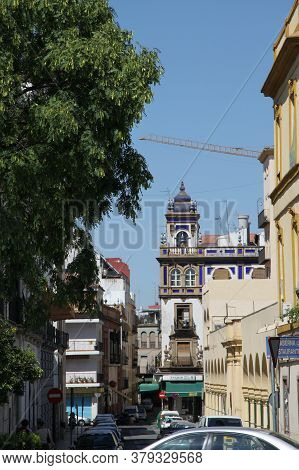 Seville, Spain - July 14, 2011:urban View Of The Old Spanish City Of Seville
