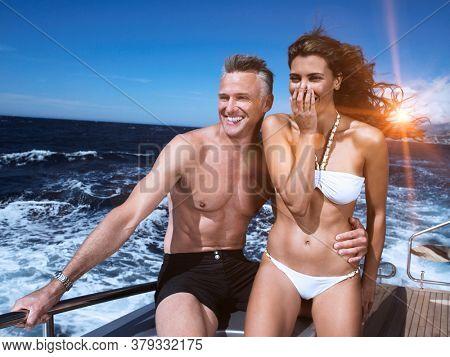 Couple on a Boat in swimwear