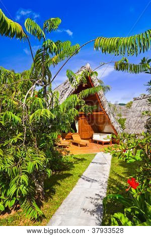 Bungalow In Hotel At Tropical Beach