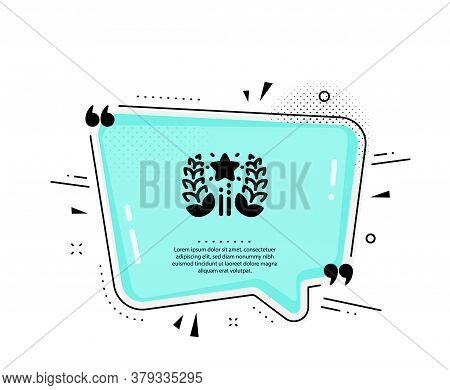 Ranking Icon. Quote Speech Bubble. Laurel Wreath Star Star Sign. Best Rank Symbol. Quotation Marks.