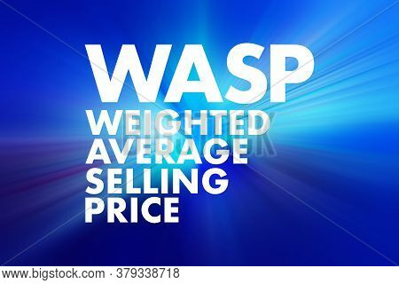 Wasp - Weighted Average Selling Price Acronym, Business Concept Background
