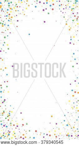 Festive Classic Confetti. Celebration Stars. Colorful Confetti On White Background. Favorable Festiv