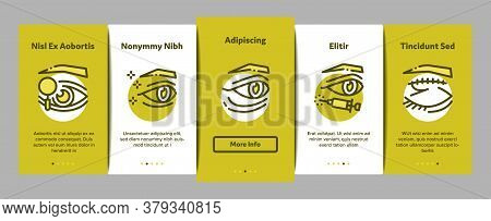 Eyelid Surgery Healthy Onboarding Mobile App Page Screen Vector. Eyelid Surgery Blepharoplasty Cosme
