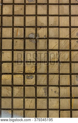 Old Square Background Mosaic. Abstract Pixels. Ceramic Tiles. Texture For Facing The Walls Of The Ho