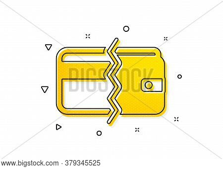 Payment Methods Sign. Credit Card Or Cash Icon. Yellow Circles Pattern. Classic Payment Methods Icon