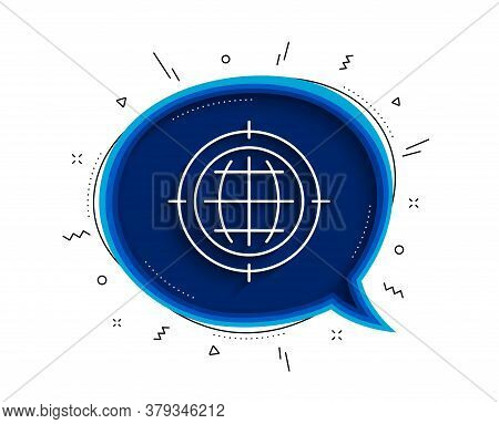 Seo Target Line Icon. Chat Bubble With Shadow. Search Engine Optimization Sign. Internet Symbol. Thi