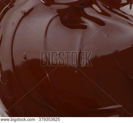 Melted chocolate natural dark swirl background