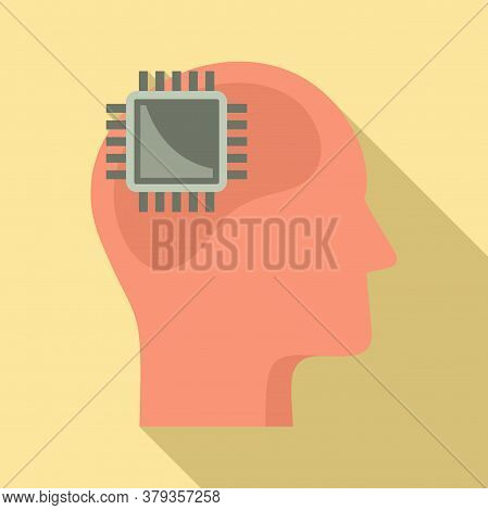 Processor Neuromarketing Icon. Flat Illustration Of Processor Neuromarketing Vector Icon For Web Des