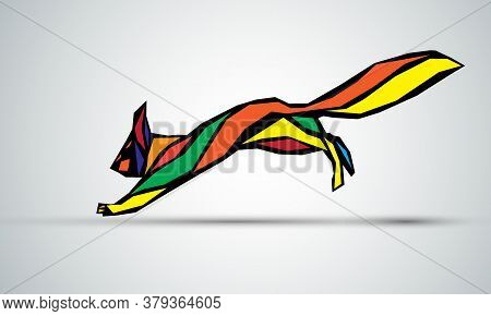 Polygonal Illustration Of Squirrel. Abstract Squirrel Vector