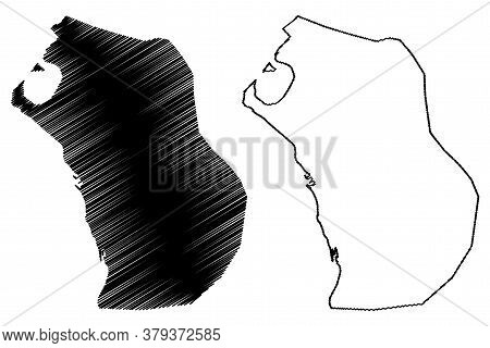 Al Hudaydah City (republic Of Yemen) Map Vector Illustration, Scribble Sketch City Of Hodeda, Hodeid