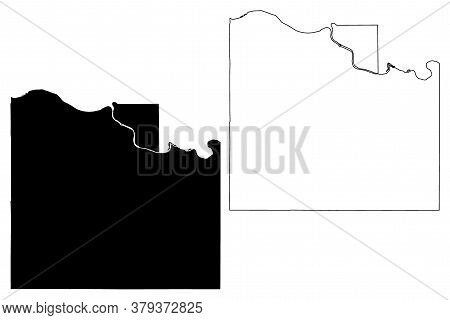 Douglas County, Kansas (u.s. County, United States Of America, Usa, U.s., Us) Map Vector Illustratio