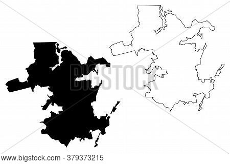 Juiz De Fora City (federative Republic Of Brazil, Minas Gerais State) Map Vector Illustration, Scrib