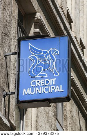 Lyon, France - June 28, 2020: Credit Municipal Logo On A Wall. In France, Credit Municipal Are Both