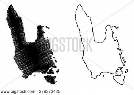 Sanma Province (republic Of Vanuatu, Archipelago) Map Vector Illustration, Scribble Sketch Espiritu