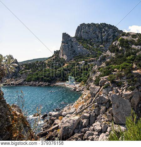 Landscape Of A Koshka Mountain With The Black Sea In Crimea