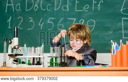 Fascinating Subject. Knowledge Day. Kid Study Biology Chemistry. Basic Knowledge Primary School Educ