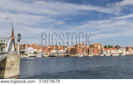 Bridge Leading To The Historic City Of Sonderborg, Denmark