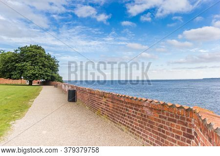 Red Brick Wall In The Garden Of Castle Sonderborg, Denmark
