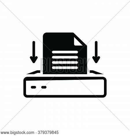 Black Solid Icon For Project-inbox Project Inbox Task Scheme App Application Stroage Digital Archive