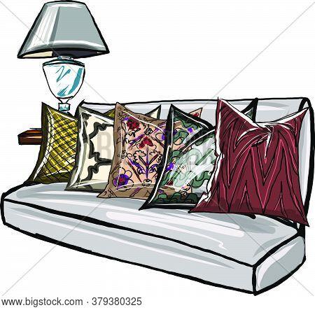 П Диван с подушками