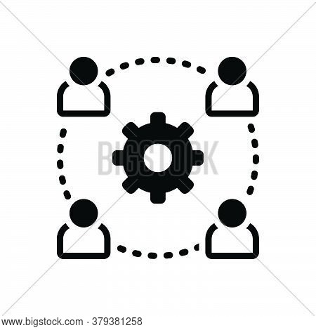 Black Solid Icon For Outsource-management Outsource Management Authority Administration Collaboratio
