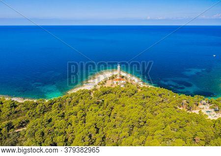 Beautiful Croatia, Amazing Seascape, Lighthouse Of Veli Rat On The Island Of Dugi Otok, Adriatic Sea
