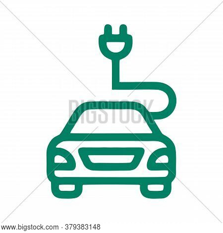 Electric Car Icon Isolated On White Background From Mother Earth Day Collection. Electric Car Icon T