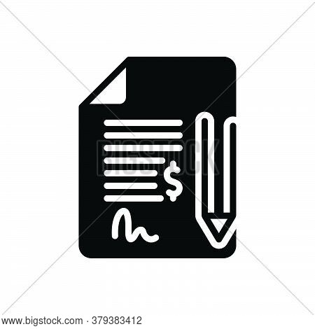 Black Solid Icon For Contract Bond Commitment Pledge Pleadings Justice Security Deed Legal-documents