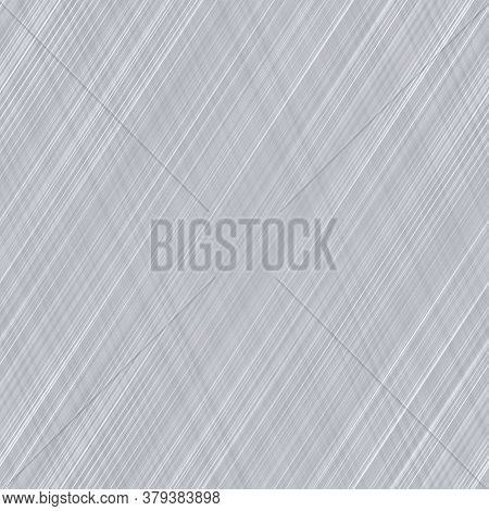 Seamless Grey White Marl Stripe Texture Background. Irregular Imperfect Wave Striped Pattern. Funky
