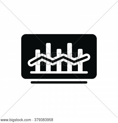 Black Solid Icon For Market-trend Market Trend Tendency Statistic Arrow Finance Graphic Economic Inc