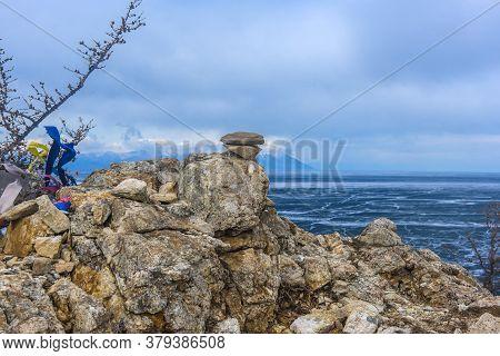 Cape Shunte-left (love Cape) On East Coast Of Island Olkhon On Lake Baikal