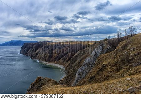Cape On Baikal In The Spring