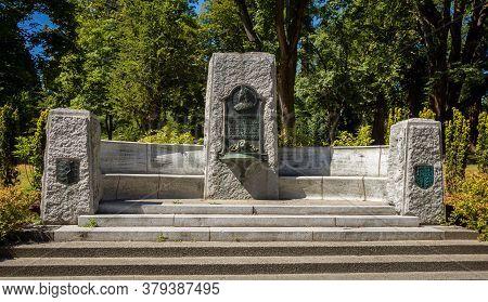 Vancouver, Canada - July 27th 2017: Queen Victoria Memorial Fountain, Stanley Park, Vancouver, Briti