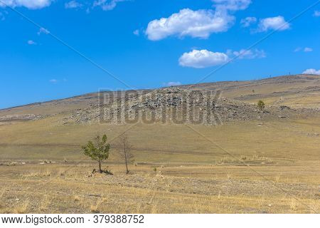 Tazhenranskaya Steppe On The West Coast Of Lake Baikal, Siberia
