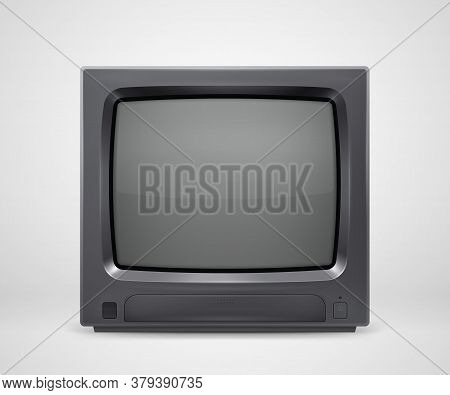 Retro Realistic Tv Set From 80s Or 90s